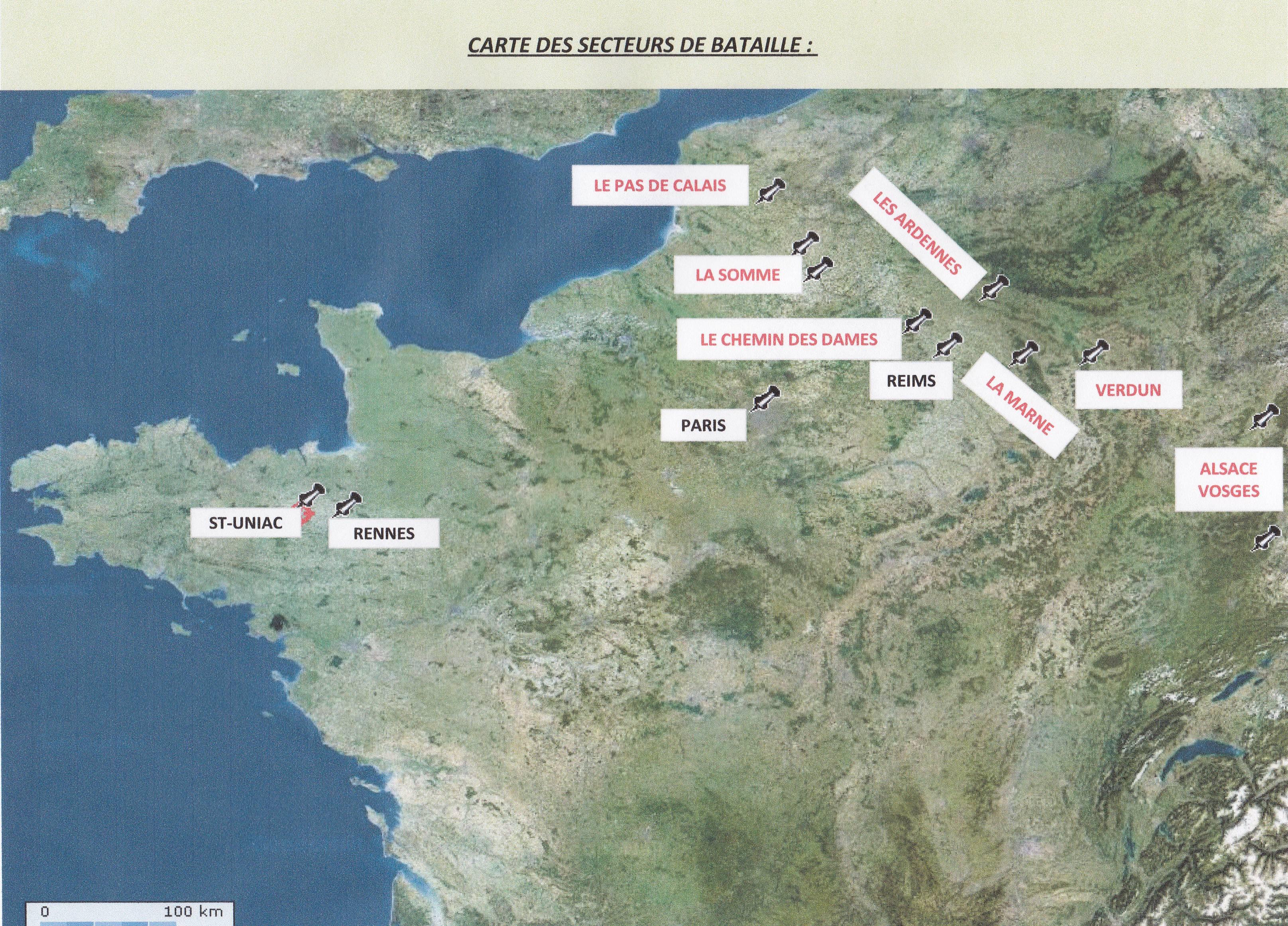 Carte des secteurs de combat: CARTE-SECTEURS-COMBAT
